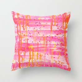 Confetti Abstract High Flow Acrylic Painting Throw Pillow