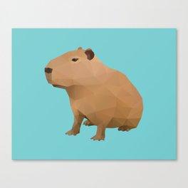 Capybara Polygon Art Canvas Print