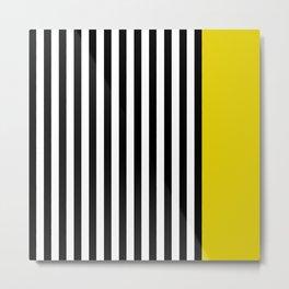 Liquorice allsorts, yellow Metal Print