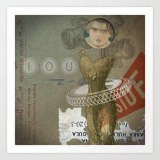 IOU Art Print