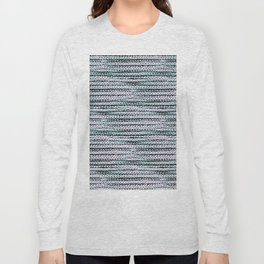 Knitting-like crochet texture Long Sleeve T-shirt