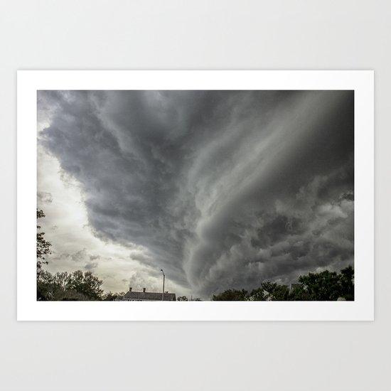 Cloud Wall Turning Art Print