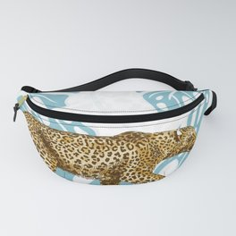 LEOPARD AND LEAVES Fanny Pack