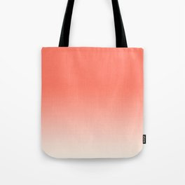 Coral to Peach Tote Bag