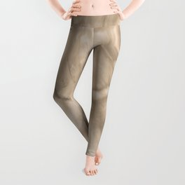 Pantone Hazelnut Flowing Pearlescent Haze, Opalescent Fluid Art Leggings