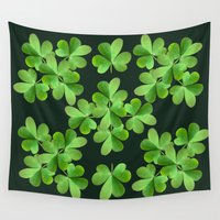 clover Wall Tapestries featuring Clover Print by UMe Images