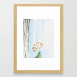 Waterfall by Essie Lee, nature print, landscape artwork, modern art, custom art, nature artwork, art Framed Art Print