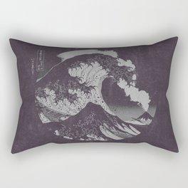 The Great Wave off Kanagawa Black and White Rectangular Pillow