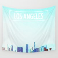 los angeles Wall Tapestries featuring Los Angeles by Heather St. Marie