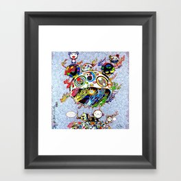 Takashi Murakami with Signature - Chaos Print Framed Art Print