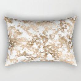 scrubbed bronze white marble Rectangular Pillow