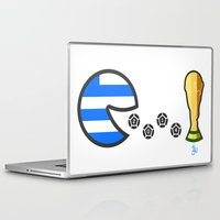 world cup Laptop & iPad Skins featuring Greece World Cup 2014 by onejyoo