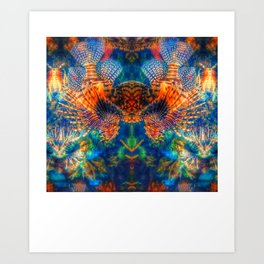 Swims with Fishes Art Print