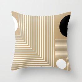 Lines & Circles Throw Pillow