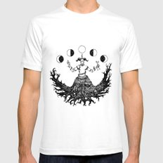 Agreus White Mens Fitted Tee SMALL
