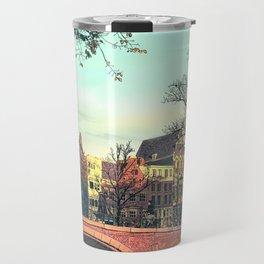 Amsterdam Sunset - Mixed Media Digital Art Travel Mug