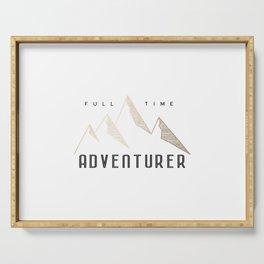 Full Time Adventurer Golden Mountains Serving Tray