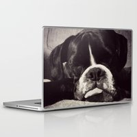 boxer Laptop & iPad Skins featuring Boxer by tangledshoebox