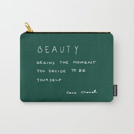 Beauty begins Carry-All Pouch