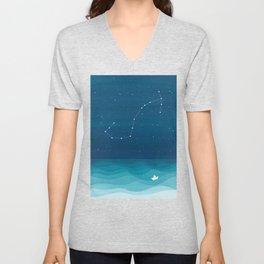 Scorpio zodiac constellation Unisex V-Neck