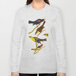 Nuttall's Starling, Yellow-headed Troopial, Bullock's Oriole Long Sleeve T-shirt