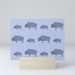 Bison And Baby (Tide) Mini Art Print