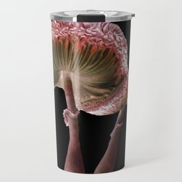 Mushrooms - Pink Parasols  Travel Mug