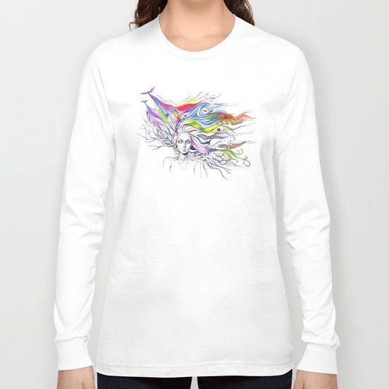Dreams are made winding through her hair Long Sleeve T-shirt