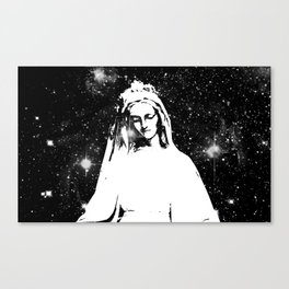 Mary Watches from the Heavens Canvas Print