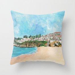 Albufeira, Portugal Throw Pillow