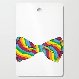 Rainbow Bow Tie Cutting Board