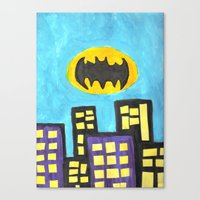 bat Canvas Prints featuring Bat by Marialaura