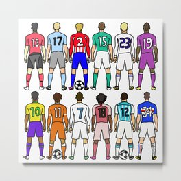 Soccer Backs Metal Print