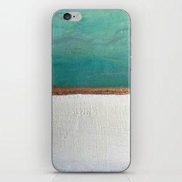 Northern Lights (teal)  Encaustic Painting iPhone Skin