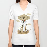pirates V-neck T-shirts featuring sky pirates by bri.buckley