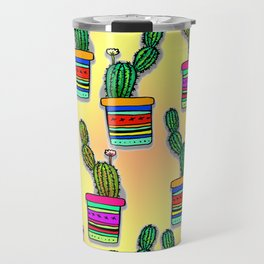 Cactus Drawing Travel Mug