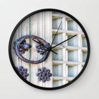 korean Wall Clocks featuring Korean Palace Doors II by Jennifer Stinson