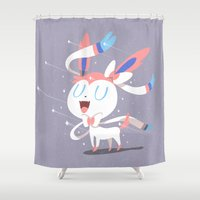 sylveon Shower Curtains featuring Sylveon by Rod Perich