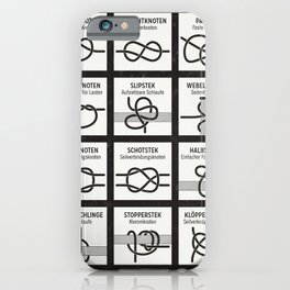 Instruction Infographic with Useful Knots iPhone Case