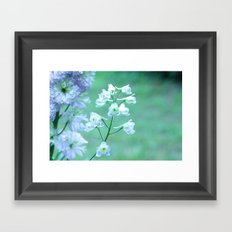 Delphiniums in Bloom Framed Art Print