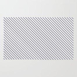 Lilac Gray Stripe Rug