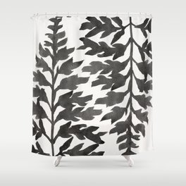 Black Fern Shower Curtain