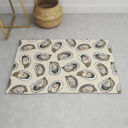 Oysters by the Dozen in Cream Rug