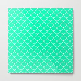 Mint Scales Metal Print
