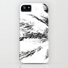 Palm Tree Sketch iPhone Case
