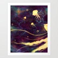 Space Jelly Art Print