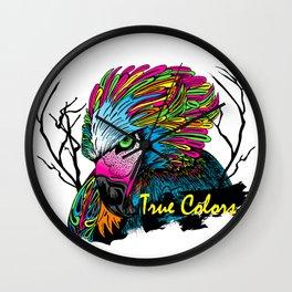 Rainbow Hawk Wall Clock