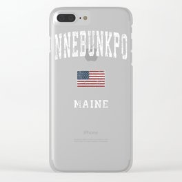 Kennebunkport Maine ME Vintage American Flag Sports Design T-Shirt Clear iPhone Case