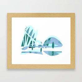 Ciudad de las artes y las ciencias Framed Art Print