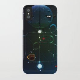 Self Portrait: Raid Boss, Coffee and Constellations iPhone Case